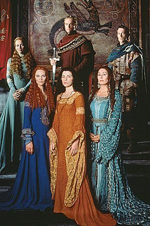 The Mists of Avalon Cast: Julianna Margulies, Joan Allen, Anjelica Huston, Edward Atterton, Michael Vartan and Samantha Mathis.