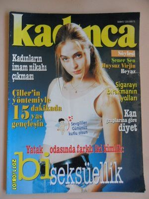 Ceyda Düvenci - Kadinca Magazine Cover [Turkey] (February 1997)