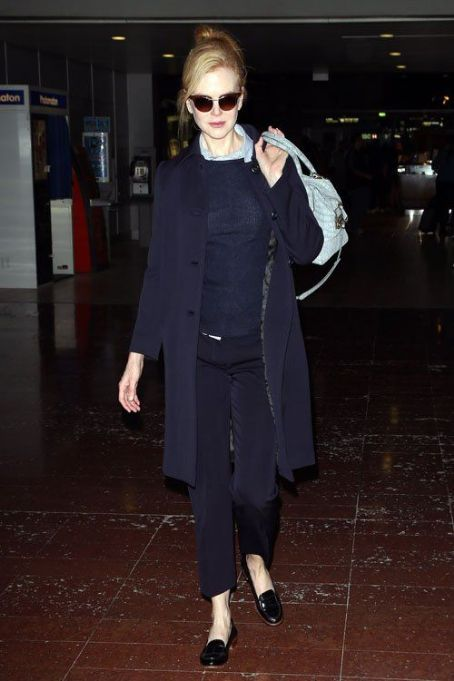 Nicole Kidman: arrived at Roissy Airport in Paris