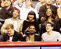 Blac Chyna Tyga and  at Nba game