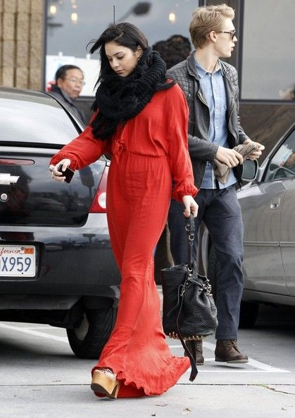 Vanessa Hudgens out in Hollywood Ca