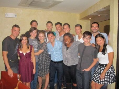 Chris Colfer Lea Michele and Mark Salling