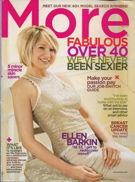 Ellen Barkin - More Magazine Cover [Canada] (June 2007)
