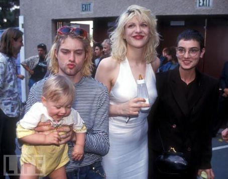 Courtney Love and Kurt Cobain - Sinéad O'Connor pics