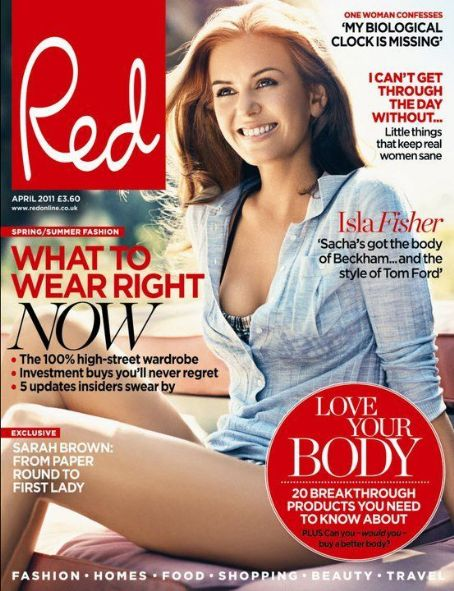 Isla Fisher - Red Magazine Cover [United States] (April 2011)