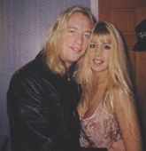 Rowanne Brewer Backstage at  a Warrant show