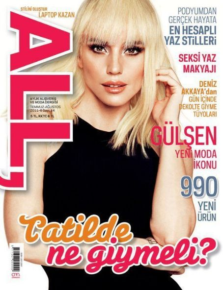 Gülsen - All Magazine Cover [Turkey] (August 2011)