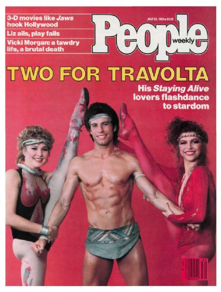 Cynthia Rhodes , John Travolta and Finola Hughes on People Magazine