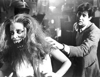 Amanda Bearse William Ragsdale and  in a Scene from Fright Night