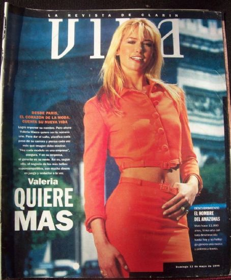 Valeria Mazza - VIVA Magazine Cover [Argentina] (12 May 1996)