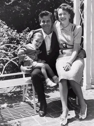 Glenn Ford with wife Eleanor Powell and son Peter
