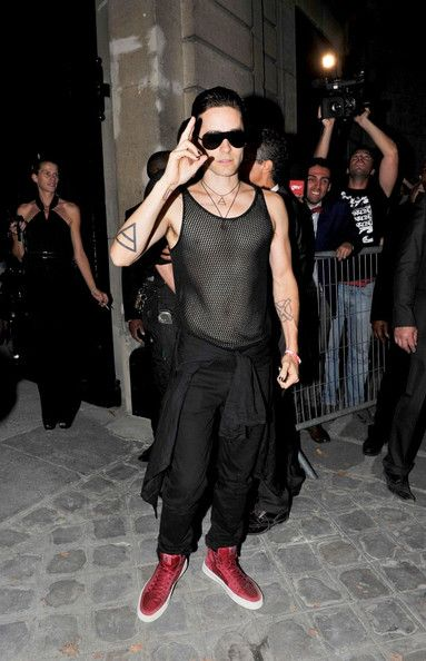 Jared Leto - Yves Saint Laurent ready-to-wear Spring/ Summer 2012 show during Paris Fashion Week