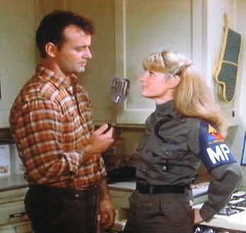 Bill Murray and P.J. Soles in Stripes