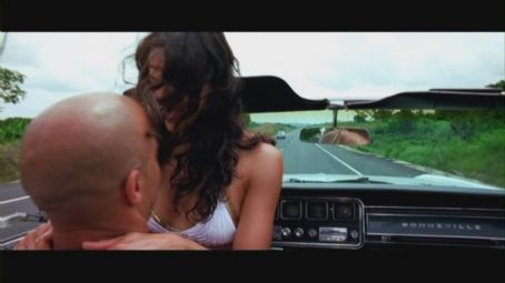 Vin Diesel and Michelle Rodriguez - Los Bandoleros - On the set