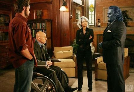 Dr. Henry 'Hank' McCoy Logan (Wolverine), Professor Charles Xavier, Ororo Munroe (Storm) and Dr. Hank McCoy (Beast)