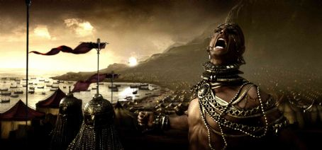 "Xerxes  (RODRIGO SANTORO) vents his rage at the losses sustained by his army while facing 300 Spartans in Warner Bros. Pictures', Legendary Pictures' and Virtual Studios' action drama ""300,"" distributed by Warner Bros. Picture"