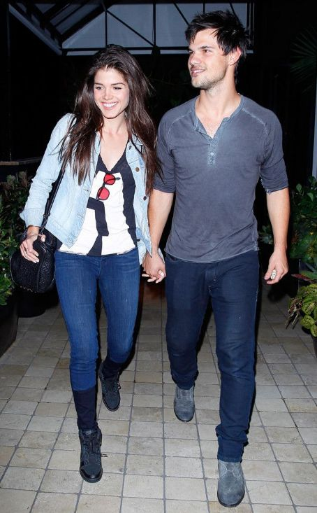 Taylor Lautner Holds Hands With Girlfriend Marie Avgeropoulos on Date Night, Couple Continue to Be Very Cute