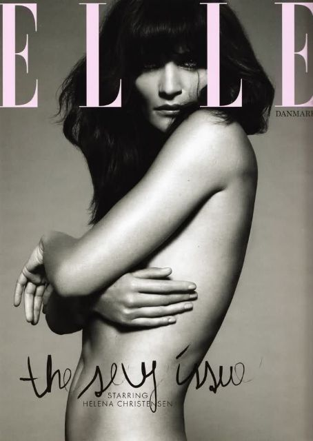 Helena Christensen - Elle Magazine Cover [Denmark] (February 2010)