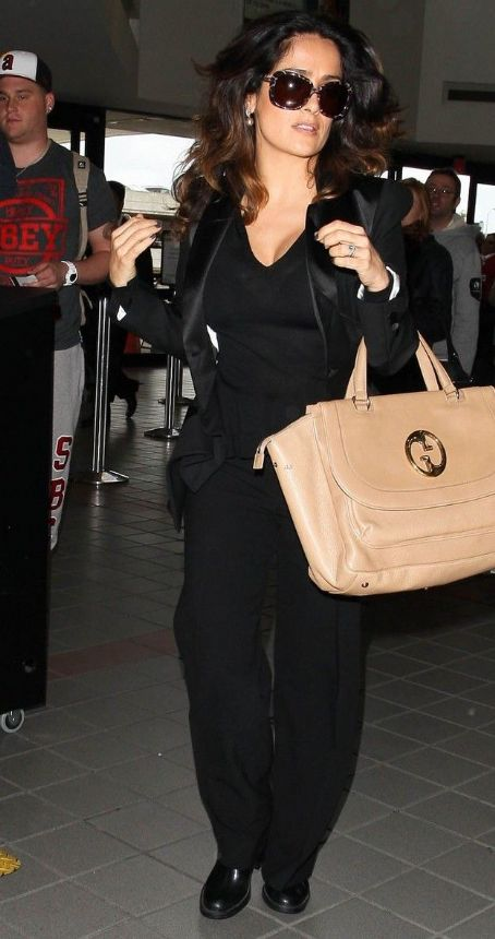 Salma Hayek: walks through LAX Airport