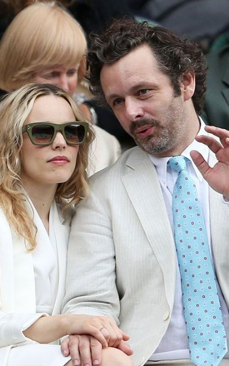 Rachel McAdams with Michael Sheen on day twelve of the Wimbledon Lawn Tennis Championships (July 7)
