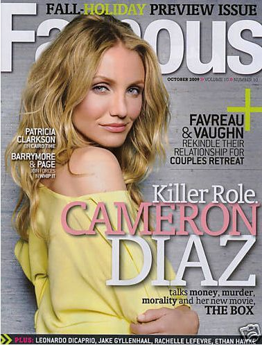 Cameron Diaz - Famous Magazine [Canada] (October 2009)