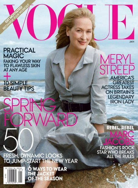 Meryl Streep - Vogue Magazine Cover [United States] (January 2012)