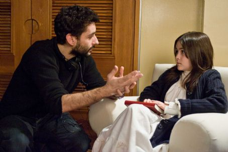 Isabelle Fuhrman - Director JAUME COLLET-SERRA discusses a scene with ISABELLE FUHRMAN on the set of Dark Castle Entertainment's horror thriller 'Orphan,' a Warner Bros. Pictures release. Photo by Rafy