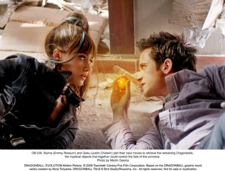 Goku Bulma (Emmy Rossum) and  (Justin Chatwin) plot their next moves to retrieve the remaining Dragonballs, the mystical objects that together could control the fate of the universe. Photo credit: Martin Gavica.  ©2009 Twentieth Century Fox Film Corporatio