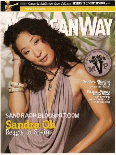 Sandra Oh - American Way Magazine Cover [United States] (August 2006)