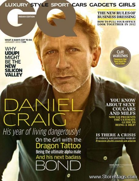 Daniel Craig - GQ Magazine Cover [India] (January 2012)