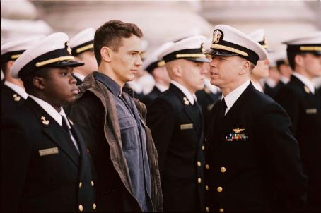 Donnie Wahlberg (left to right) Vicellous Reon Shannon as Twins, James Franco as Jake Huard and  as Lt. Cmdr. Burton in Buena Vista Pictures' Annapolis - 2006.