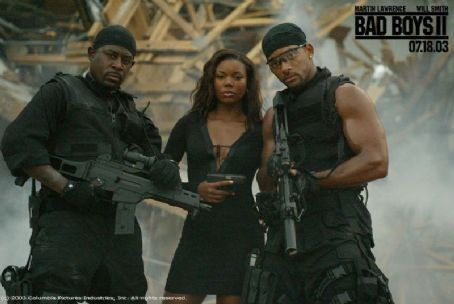 Martin Lawrence , Gabrielle Union and Will Smith in Columbia's Bad Boys II - 2003
