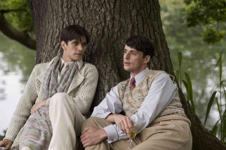 Ben Whishaw  as Sebastian Flyte and Matthew Goode as Charles Ryder. Photo credit: Nicola Dove/Courtesy of Miramax Films.