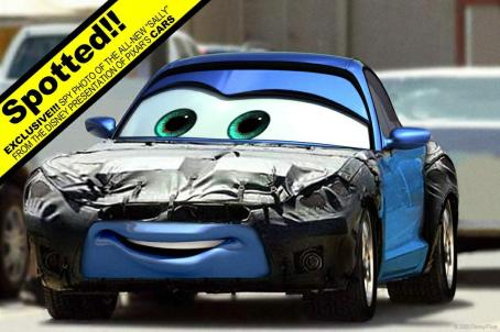 Bonnie Hunt Sally (voiced by ) in Buena Vista Pictures Distribution's Cars - 2006