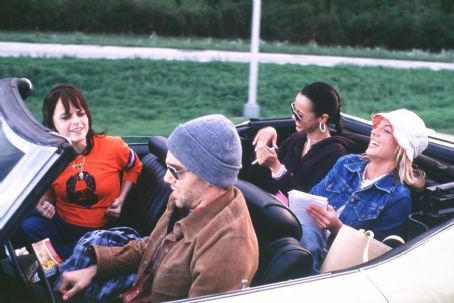 Anson Mount Taryn Manning as Mimi,  as Ben, Zoe Saldana as Kit and Britney Spears as Lucy in Paramount's Crossroads - 2002