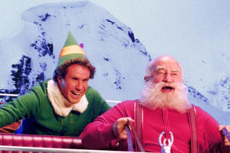 "Edward Asner Will Ferrell (left) as ""Buddy"" and Ed Asner (right) as ""Santa Claus"" in New Line Cinema's upcoming film Elf."