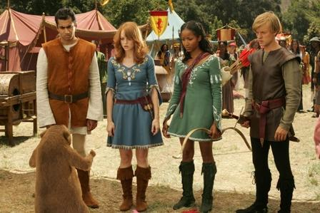 Adam Campbell Left to Right: Kal Penn as Edmund, Jayma Mays as Lucy, Faune A. Chambers as Susan and  as Peter in adventure comedy 'Epic Movie' 2007