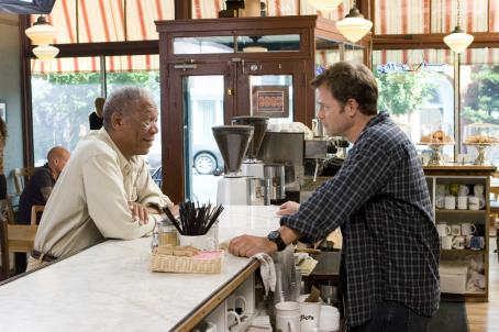 Feast of Love (L to R) MORGAN FREEMAN stars as Harry Stevenson and GREG KINNEAR stars as Bradley Smith in the romantic comedy FEAST OF LOVE, directed by Robert Benton, distributed by Metro-Goldwyn-Mayer Distribution Co., A Division of Metro-Goldwyn-Mayer Studios Inc. P