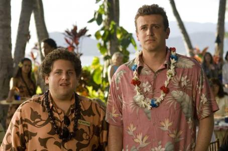 Jonah Hill  and Jason Segel in the scene of Universal Pictures' Forgetting Sarah Marshall.