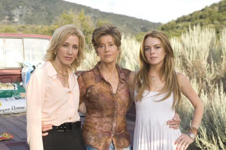 Felicity Huffman L to R:  as Lilly, Jane Fonda as Georgia and Lindsay Lohan as Rachel in Universal Pictures' Georgia Rule - 2007