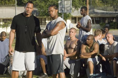 Xzibit 'The Rock' (l) and  star in Columbia Pictures' drama Gridiron Gang. Photo Credit: John Bramley