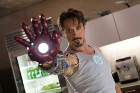 "Tony Stark Robert Downey Jr. stars as , a billionaire industrialist and genius inventor who builds a high-tech suit of armor to escape captivity in ""Iron Man."" CREDIT: ZADE ROSENTHAL. TM & © 2007 Marvel © 2007 MVLFFLLC"