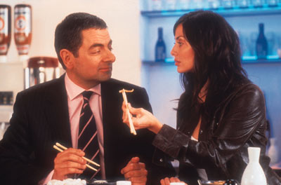 Johnny English Rowan Atkinson and Natalie Imbruglia in Universal's  - 2003