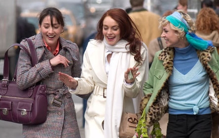 Ashley Albright Dana (Bree Turner), Ashley (Lindsay Lohan) and Maggie (Samaire Armstrong) in Donald Petrie's Comedy Romance, Just My Luck - 2006