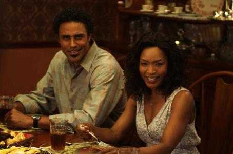 Rick Fox Angela Bassett (as Brenda) and  (as Harry) in TYLER PERRY'S MEET THE BROWNS. Photo Credit: Alfeo Dixon.