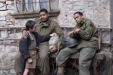 Michael Ealy MIRACLE AT ST.ANNA © Buffalo Soldiers/On My Own. All Rights Reserved. Photo credits: David Lee. This films chronicles the story of four black American soldiers stationed in Tuscany, Italy during Word War II.