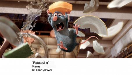 Patton Oswalt Remy (voiced by ) in the scene of Ratatouille - 2007. © Disney, Pixar.