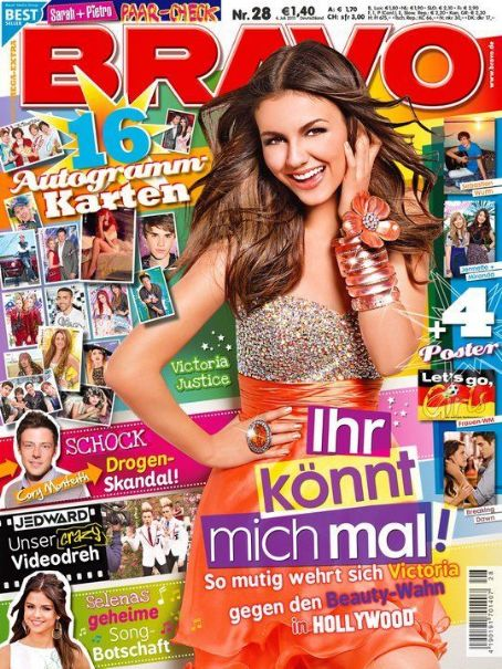 Victoria Justice - Bravo Magazine Cover [Germany] (6 July 2011)