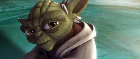 Star Wars: The Clone Wars Diminutive but mighty Jedi master Yoda considers a difficult proposition in a scene from STAR WARS: THE CLONE WARS. The Lucasfilm Animation production will be released Friday, Aug. 15, 2008, by Warner Bros. Pictures. (c) Lucasfilm Ltd. & (TM). All rights