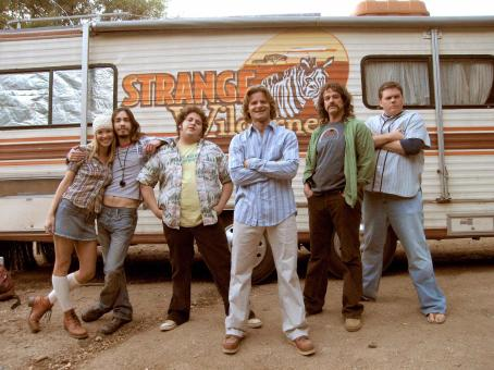 "Jonah Hill (Left to right) Members of the ""Strange Wilderness"" TV crew who go off in search of Bigfoot include Cheryl (ASHLEY SCOTT), the travel coordinator, Junior (JUSTIN LONG), the stoner cameraman, Cooker (JONAH HILL), the lazy P.A. and all-around go"